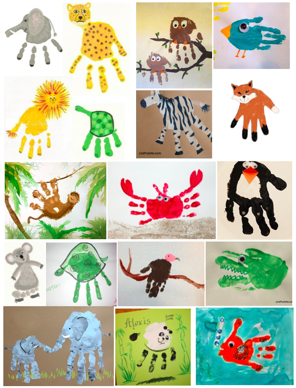 Handprints, endangered species art and craft ideas, kids art and craft, teaching kids endangered species