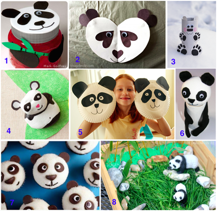 Panda bear art and craft ideas, kids art and craft, teaching kids endangered species